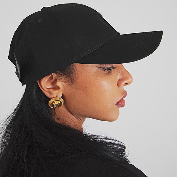 All black  simple ball cap
