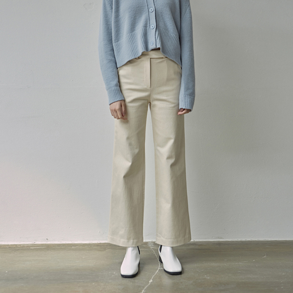 MODERN COTTON PANTS_IVORY