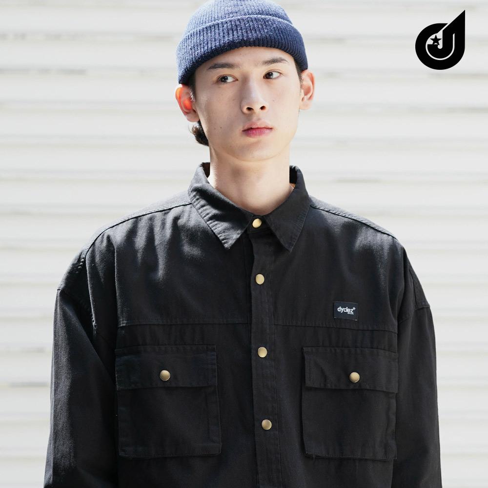 [다이클레즈] 바이포켓 셔츠 검정 KHLS5087