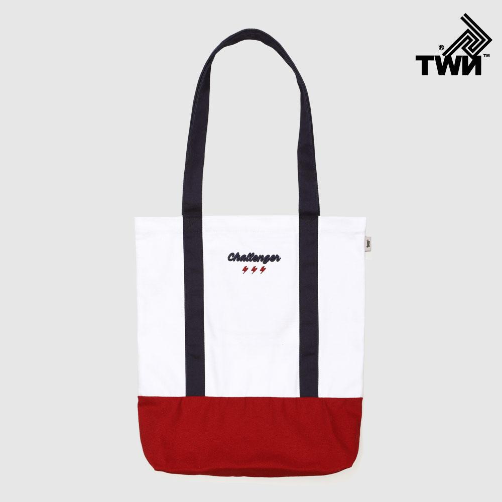 [티떠블유엔] 투라인첼린저 에코백 흰색 STAC3223