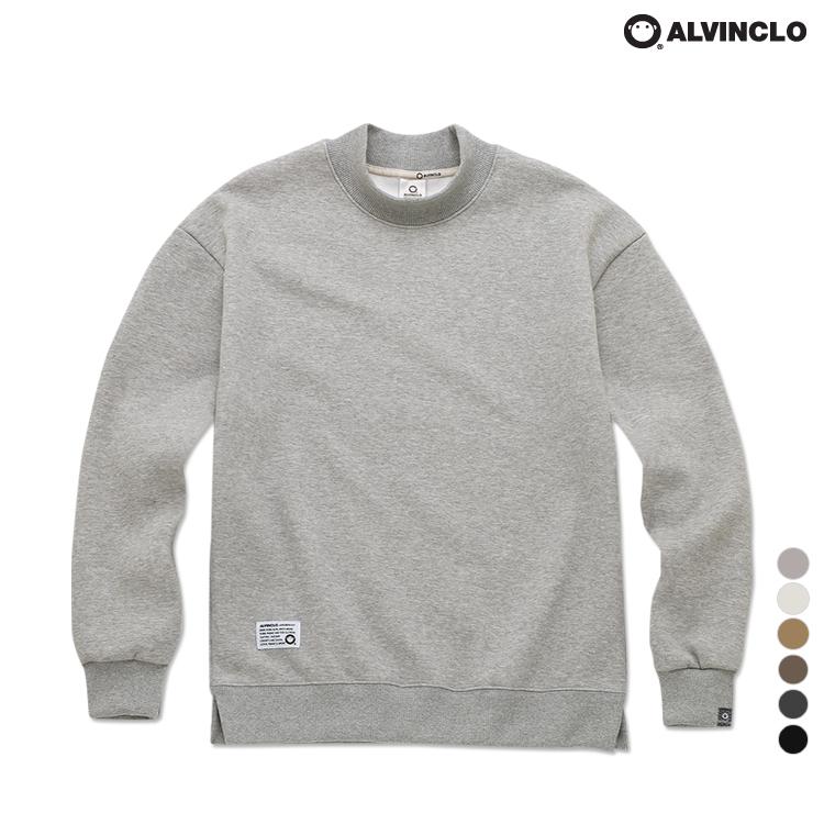 [앨빈클로]MAR-660 편안한 반폴라 오버핏 기모 맨투맨