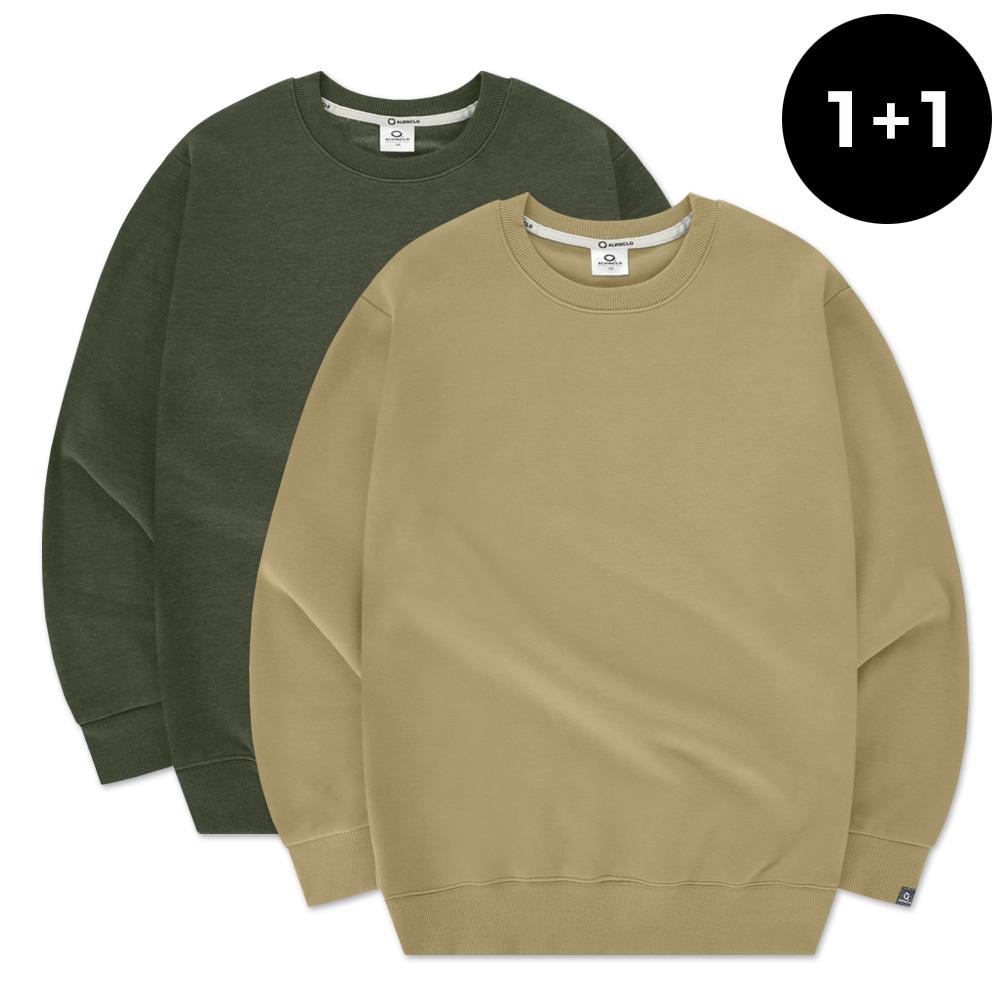 [앨빈클로] MAR-630 무지 맨투맨 티셔츠 1+1