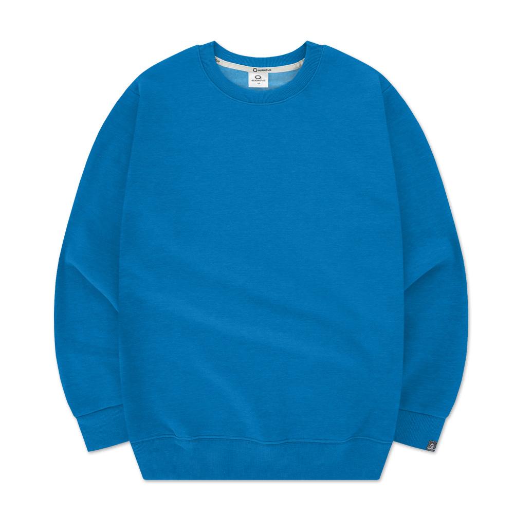 [앨빈클로]MAR-630 데일리 베이직 무지 기모 맨투맨 티셔츠