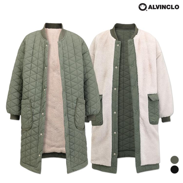 [단독할인][앨빈클로] AZH-578 인텐시브 리버시블 양털 누빔 자켓