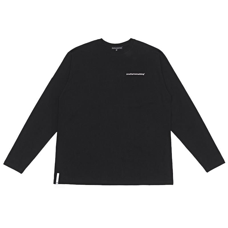 basic small logo long sleeve tee Black