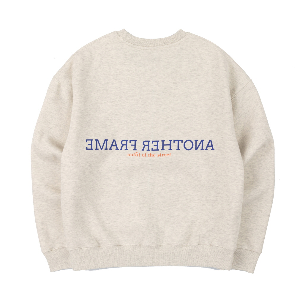 [어나더프레임] CLOUDY COLOR CREWNECK (OATMEAL)