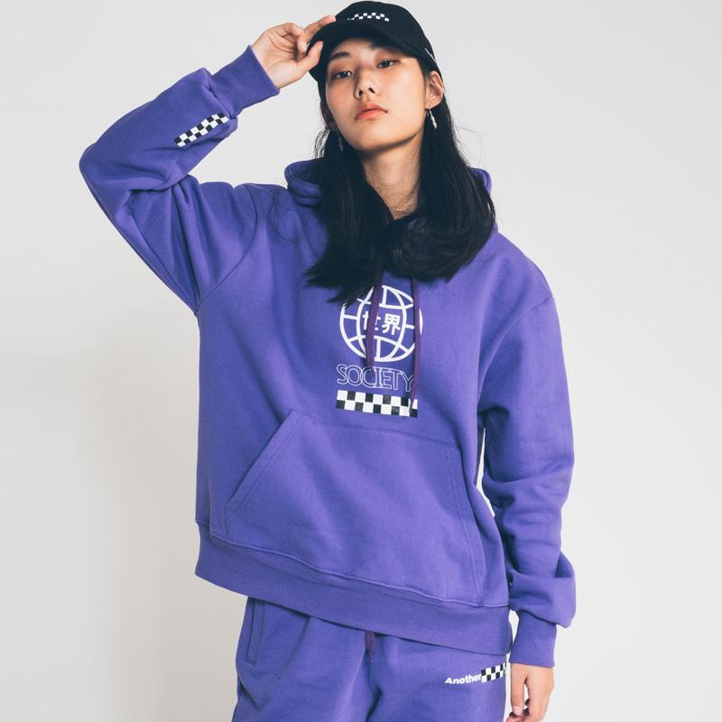 society globe hoody Purple