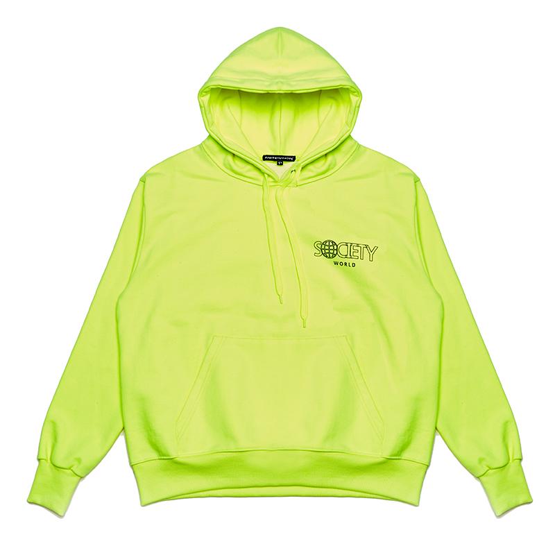 society world hoody fluorescent