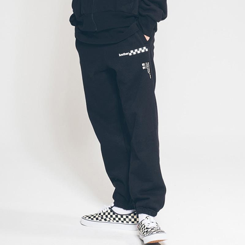 another something mosaic pants Black