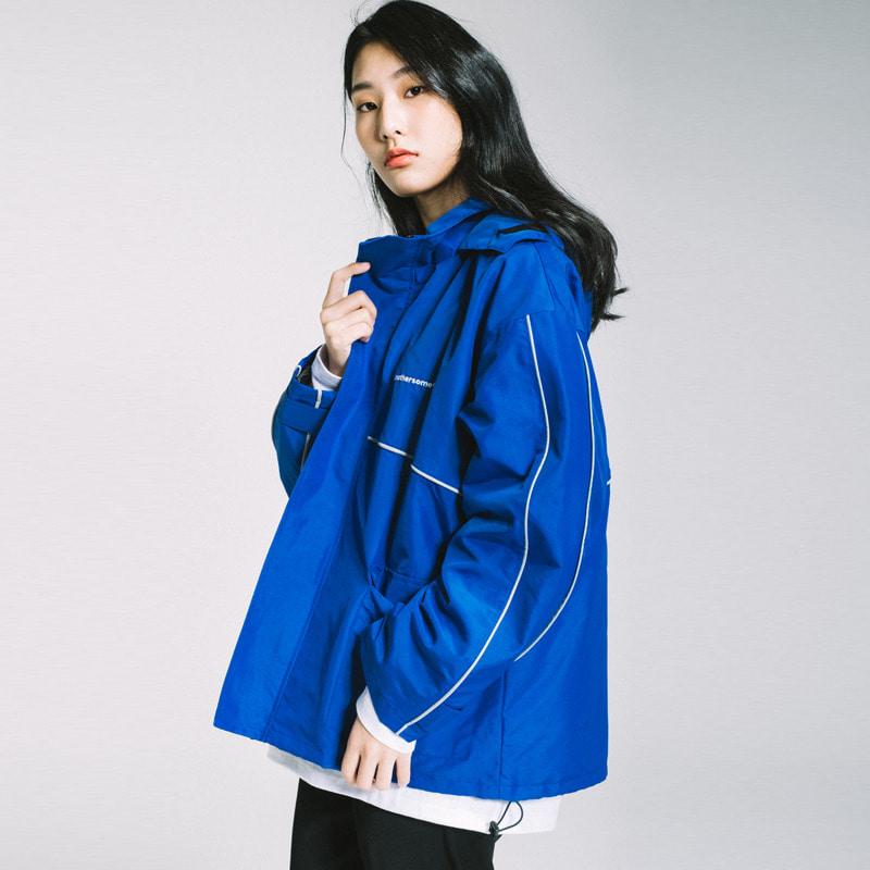 [원더나인 전도염 착용]basic side line wind breaker Blue