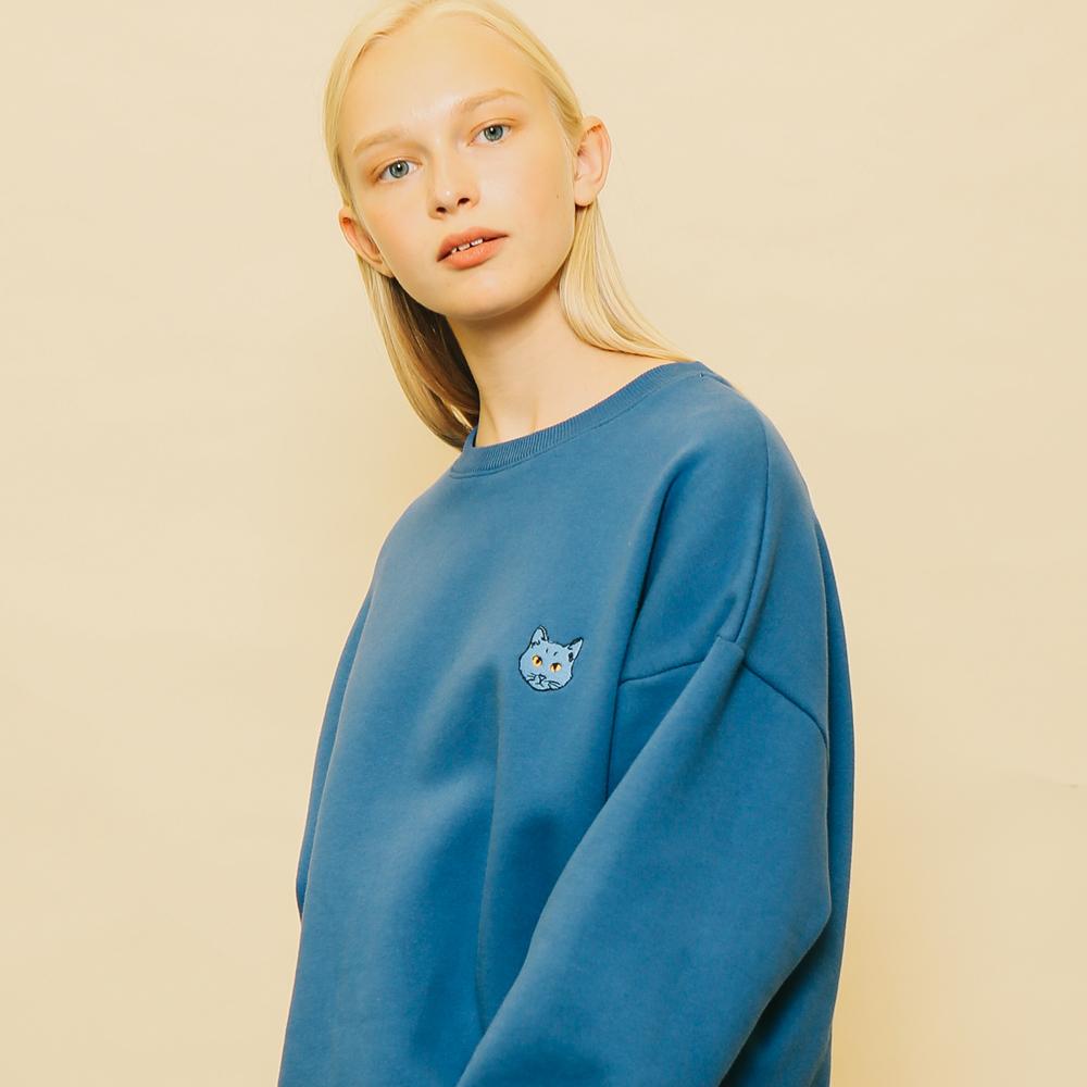[단독할인]PURRRFECT SWEATSHIRT BLUE
