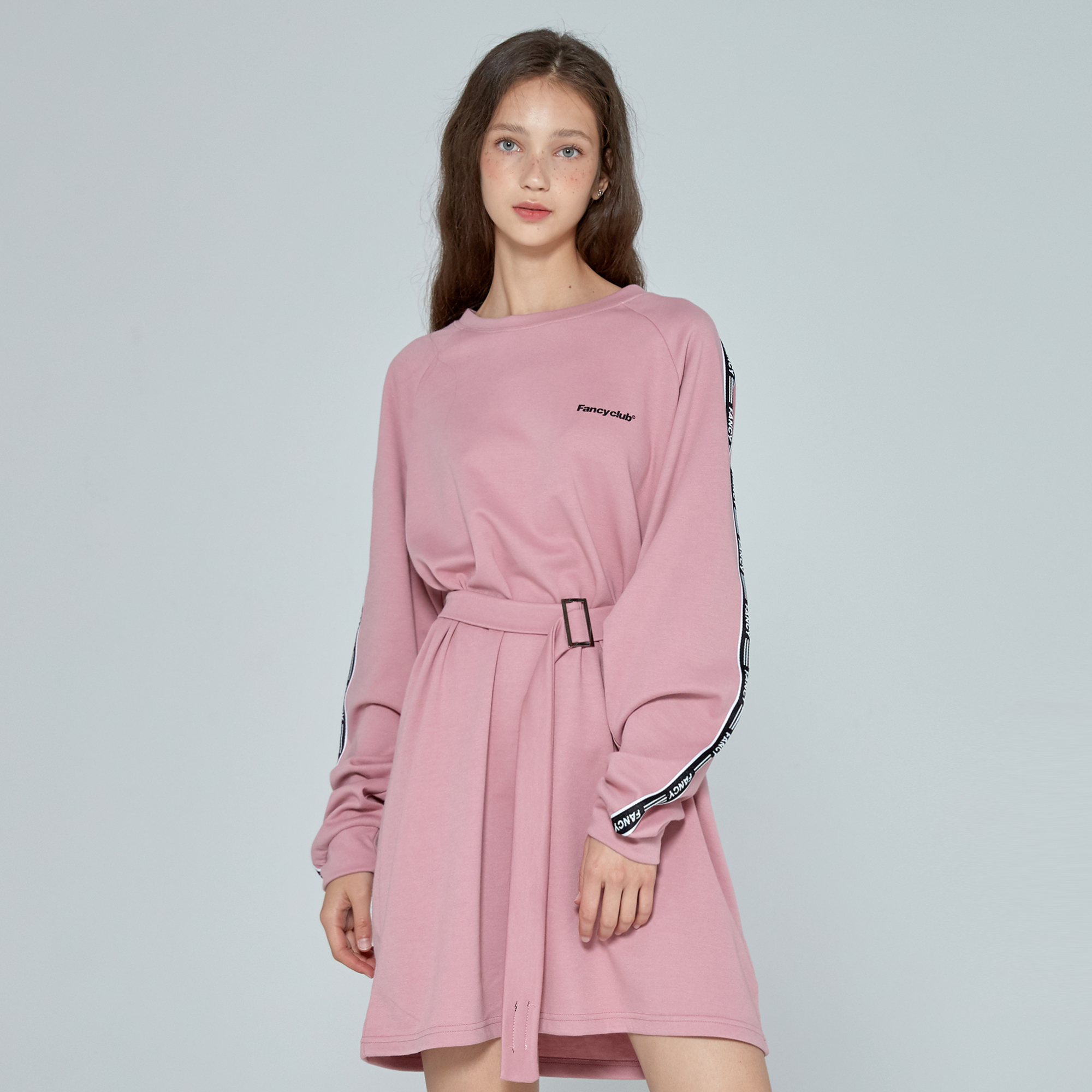 [NF] FANCY LINE ONEPIECE (PINK)(19FW-F801)