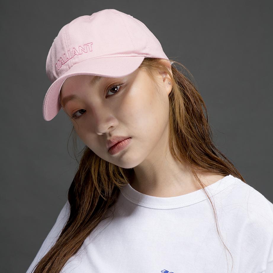 컬러 브이 볼캡 [pink]