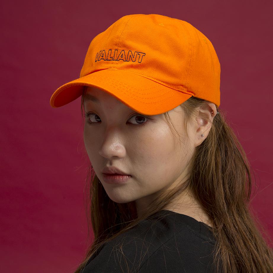 컬러 브이 볼캡 [orange]