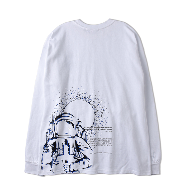 SPACEMAN LONG SLEEVE_WHITE