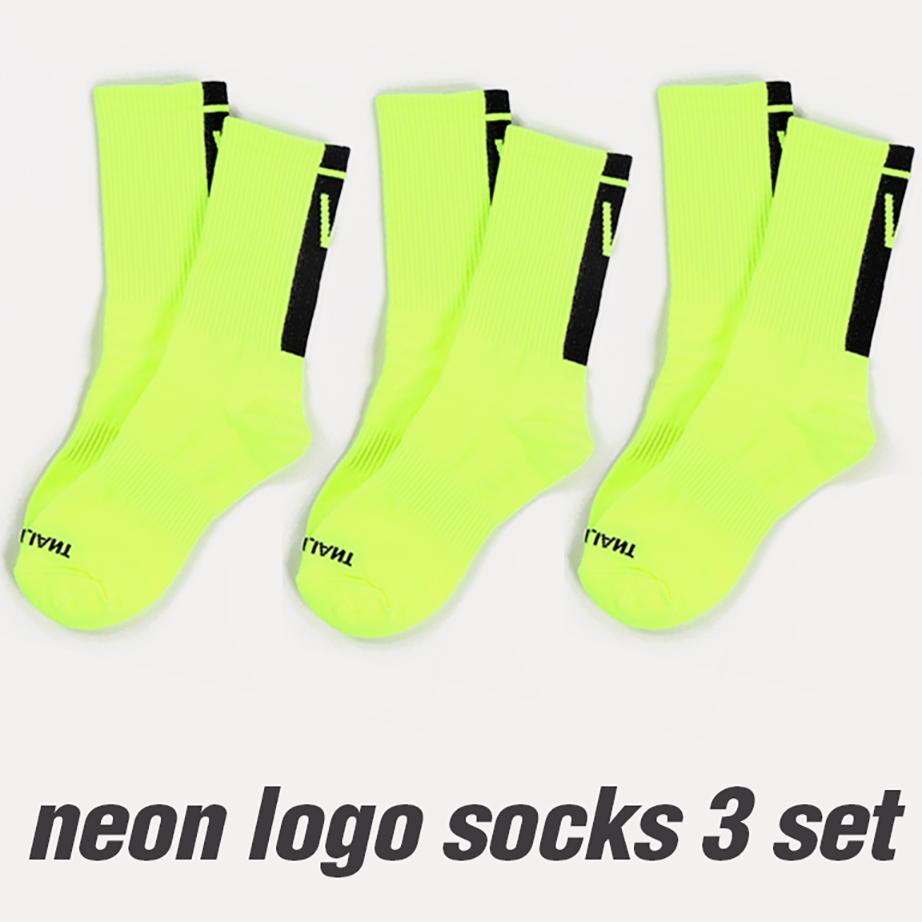발리안트 네온 로고 양말 3pack [neon yellow]