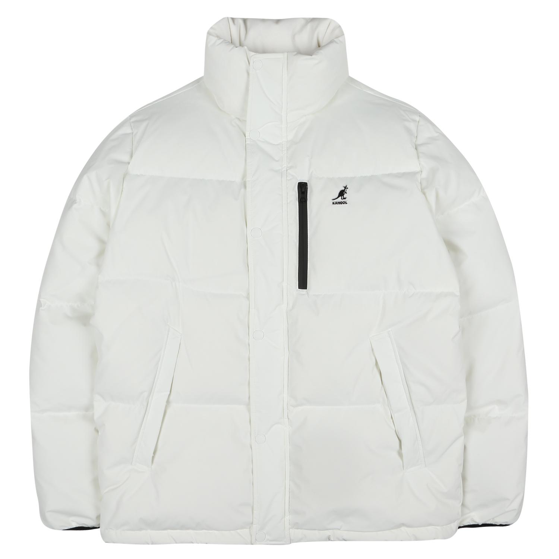 basic puffer short-down 9547 WHITE