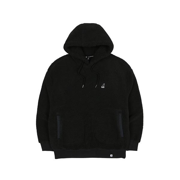 [한정특가]Faux shearling Hoody 5123 BLACK