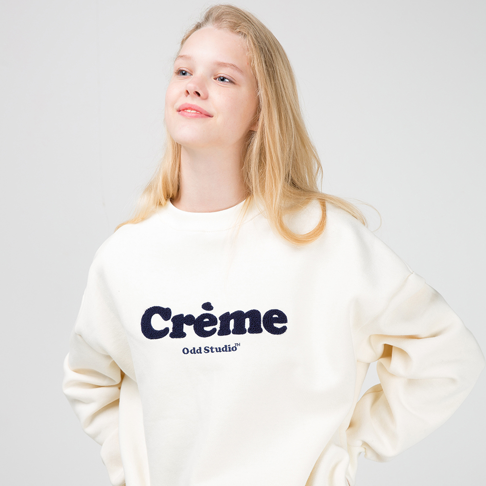 [사은품 증정] 오드스튜디오 크림 맨투맨 티셔츠 - CREAM