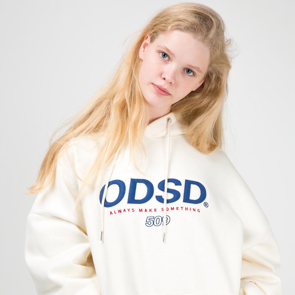 [10/18]오드스튜디오 ODSD 로고 후드 티셔츠 - CREAM
