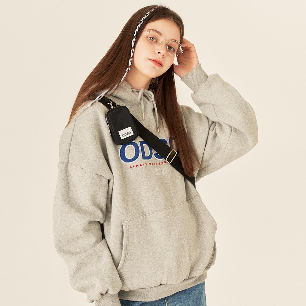 [사은품 증정] 오드스튜디오 ODSD 로고 후드 티셔츠 - GRAY
