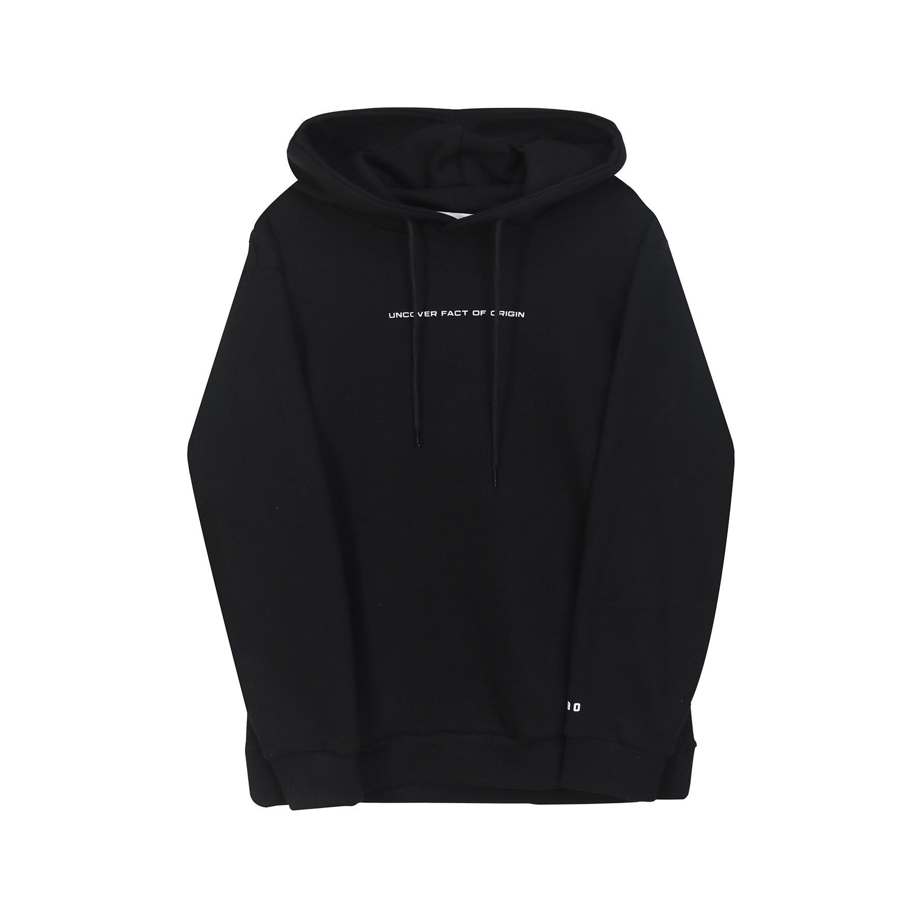 언커버 후드 티셔츠 블랙