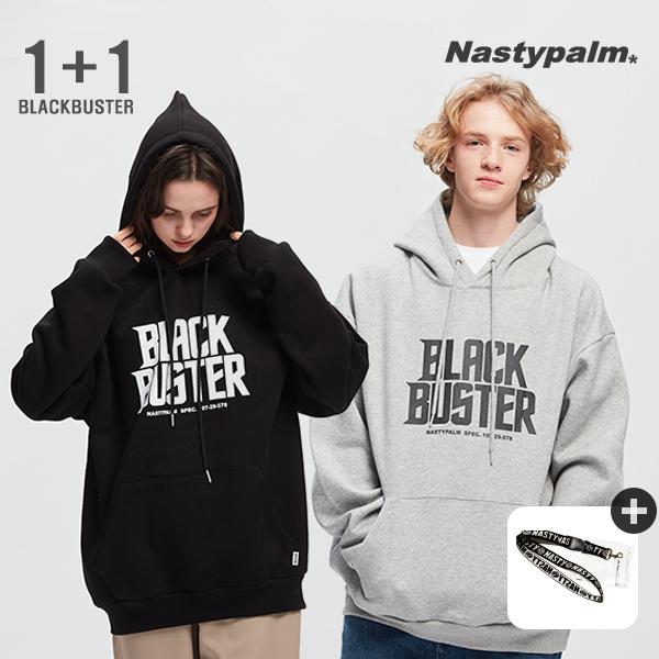 [단독1+1]BLACK BUSTER LOGO HOODIE 1+1 (FW20190939)