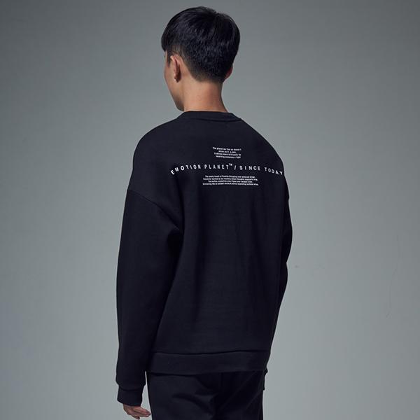 [단독할인]서드 라인 오버 스웨트셔츠 BLACK