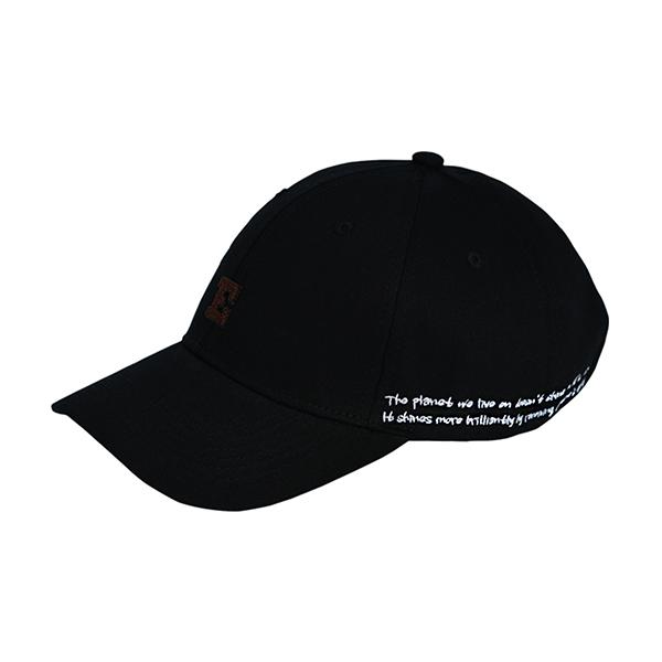 아플리케 로고 볼캡 BLACK