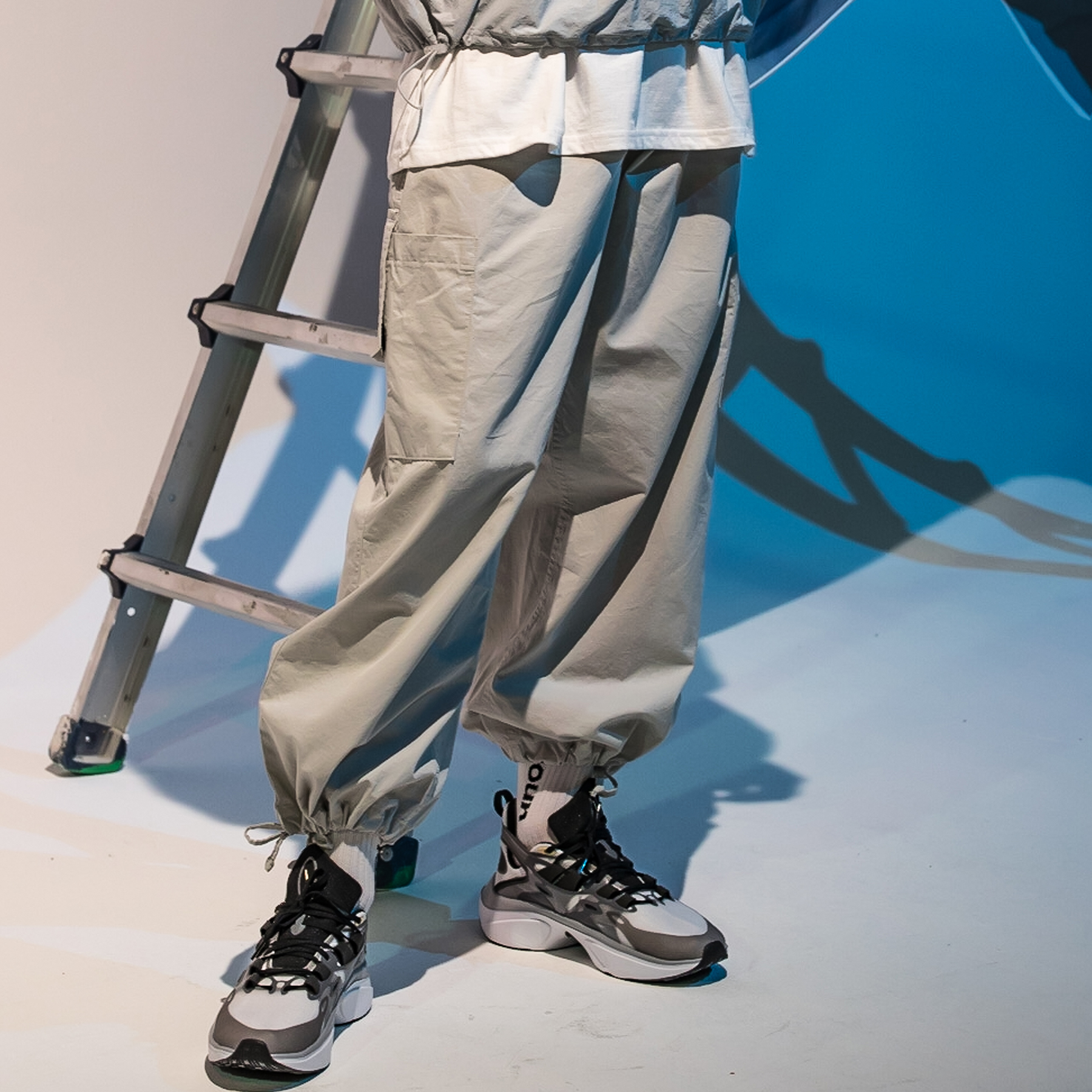 [단독할인]CARGO POCKET BALLOON JOGGER PANTS MFNCP003-GY