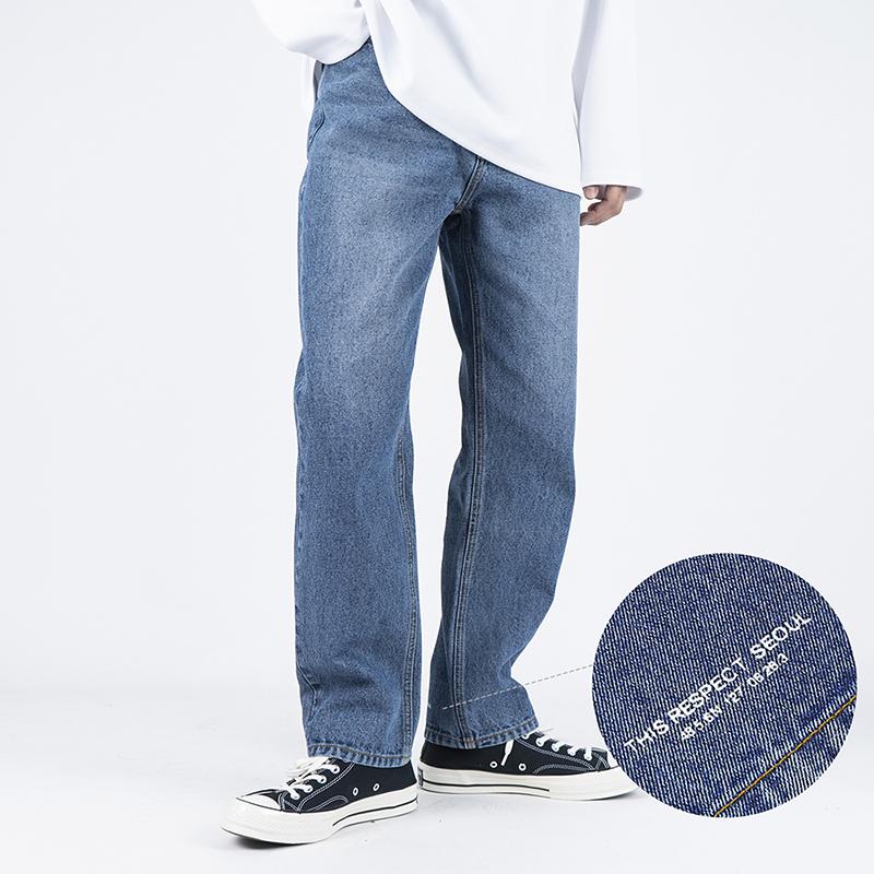 Thisrespect standard fit washed denim deep blue (TRP0005)