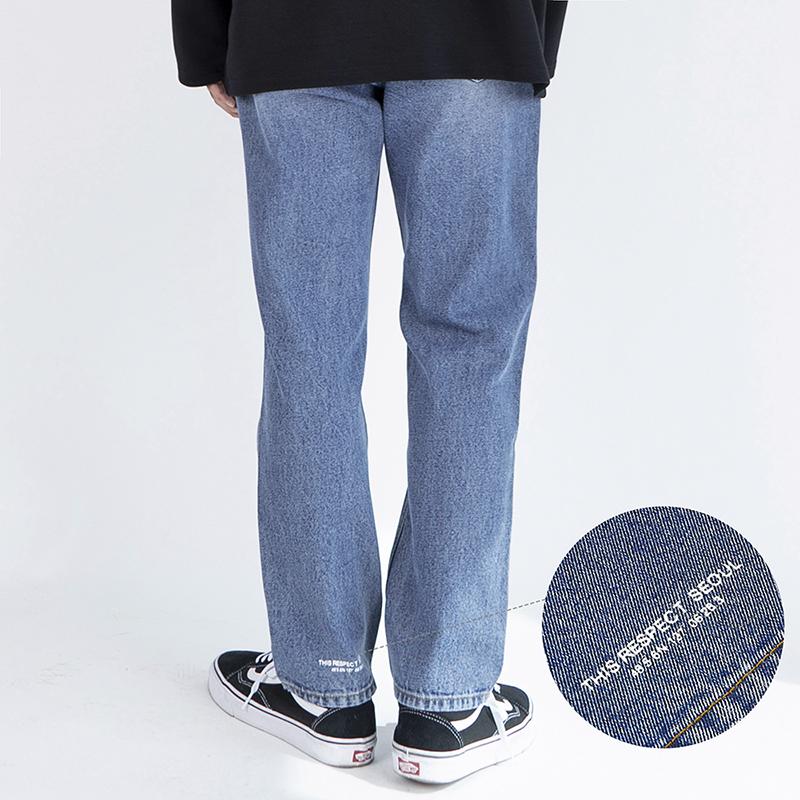 Thisrespect standard fit washed denim mid blue (TRP0004)