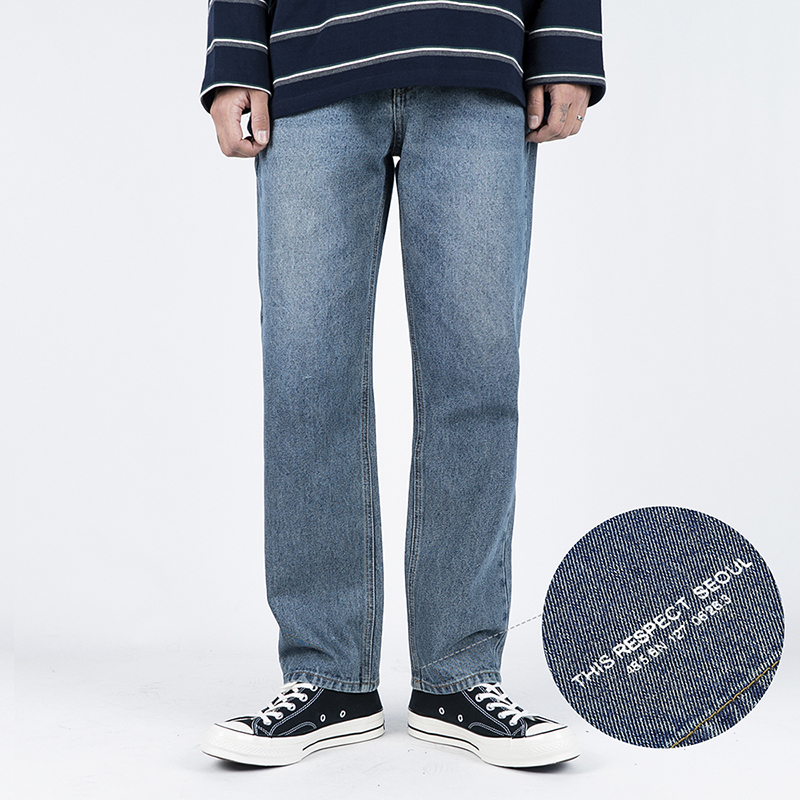 Thisrespect standard fit washed denim gray blue (TRP0003)