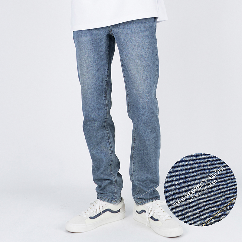 Thisrespect slim fit washed denim gray blue (TRP0002)