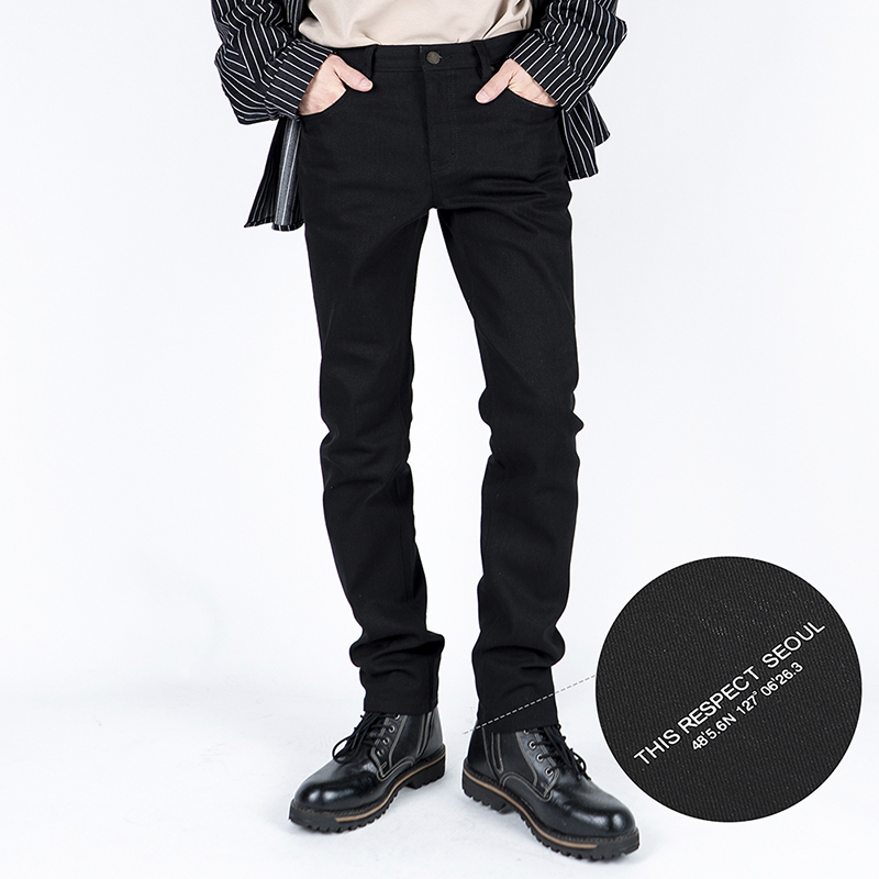 Thisrespect slim fit washed denim black (TRP0001)