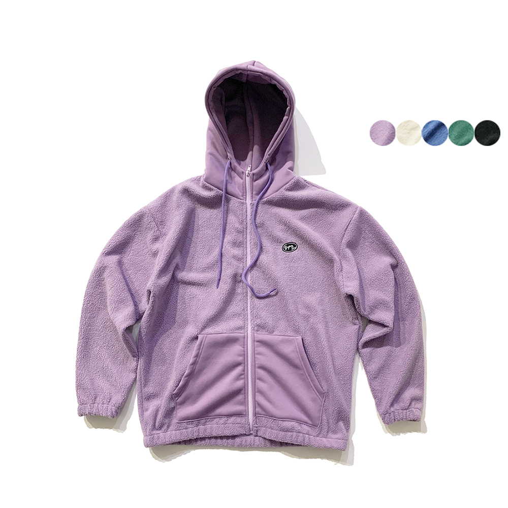 LOGO FLEECE ZIP UP HOODIE 로고 플리스 집업 후디(5color)