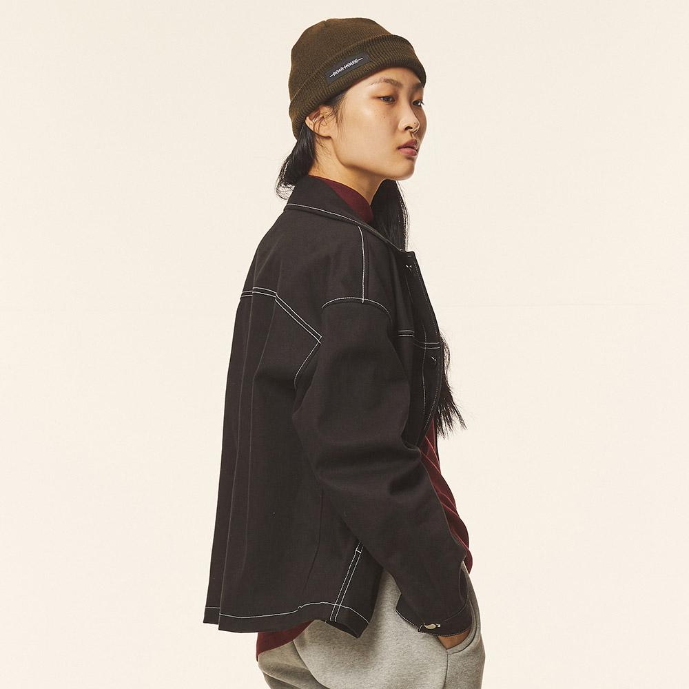 로어서울 유니섹스 오버핏 트윌 트러커 자켓(블랙)