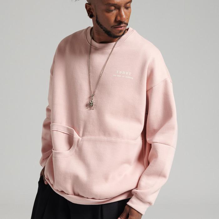 [입점특가]테네르 캥거루 맨투맨 핑크