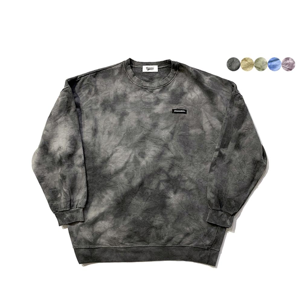 톤 온 톤 타이다이 스웨트 셔츠 TONE ON TONE TIE-DYE SWEAT SHIRT(5color)