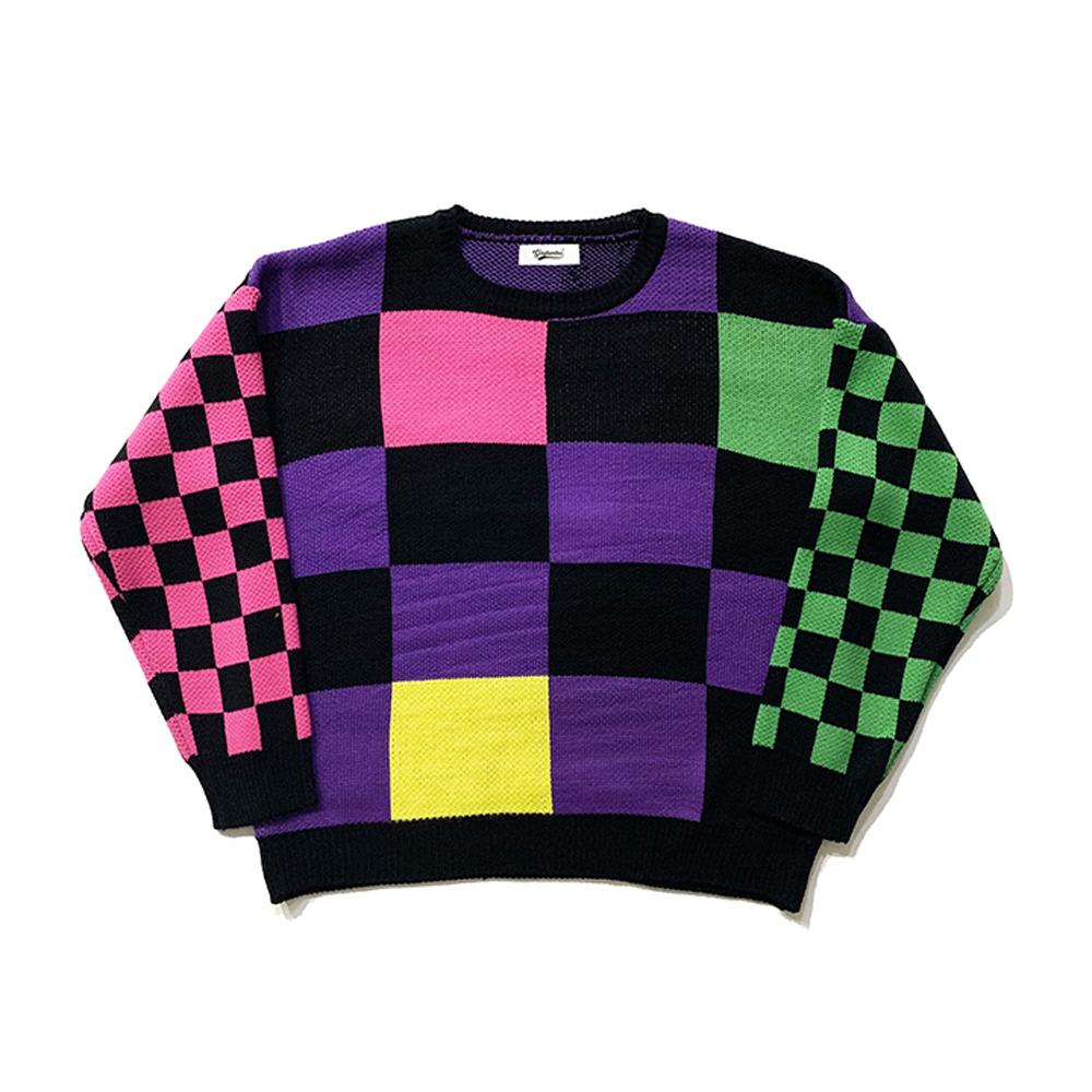 올드 스쿨 체커보드 스웨터 OLD SCHOOL CHECKERBOARD SWEATER