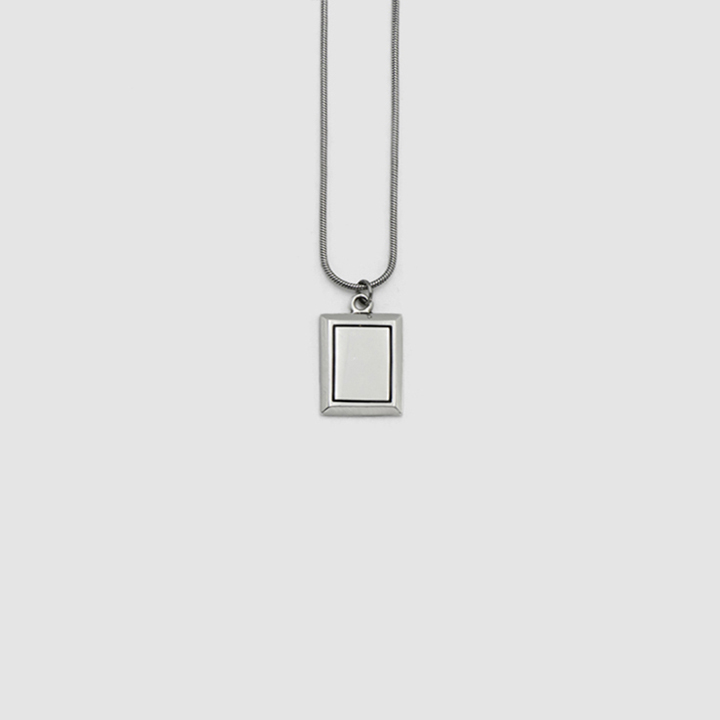 SQUARE STEEL NECKLACE