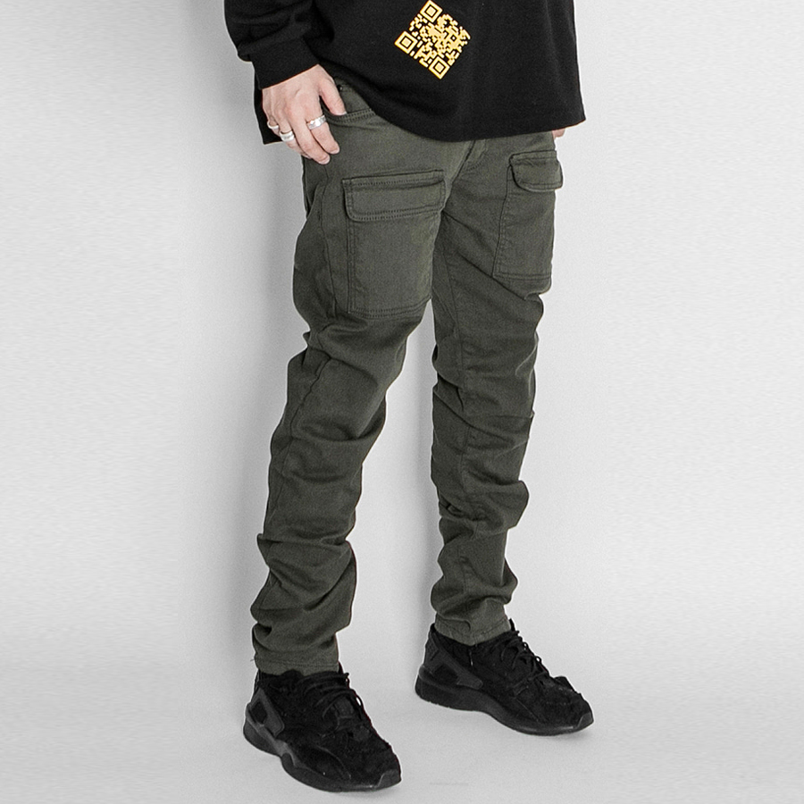 오메르타 2019 Front Cargo Pants Military Green Slim Fit