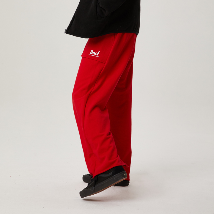 BNCF BOTTOM LINE CUTTING SWEATPANTS (RED)