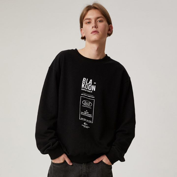 LONG BOX LOGO SWEATSHRITS (BLACK)