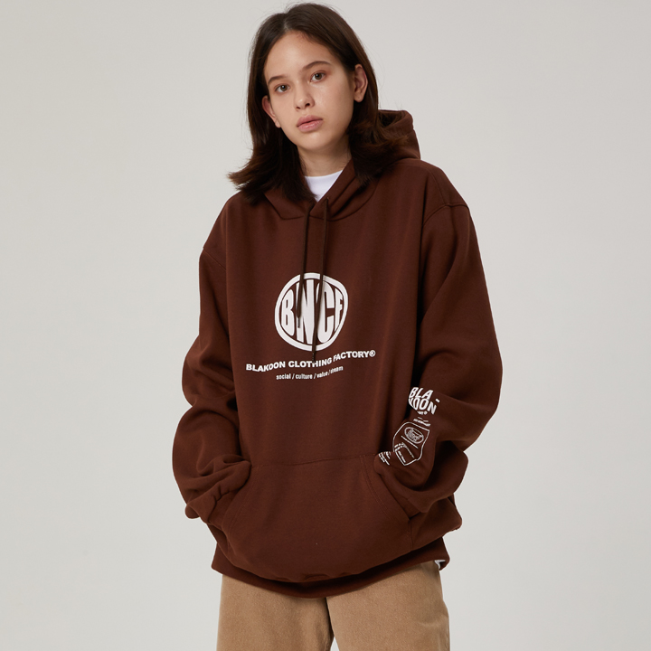 BNCF PERFECT CIRCLE LOGO HOODIE (BROWN)