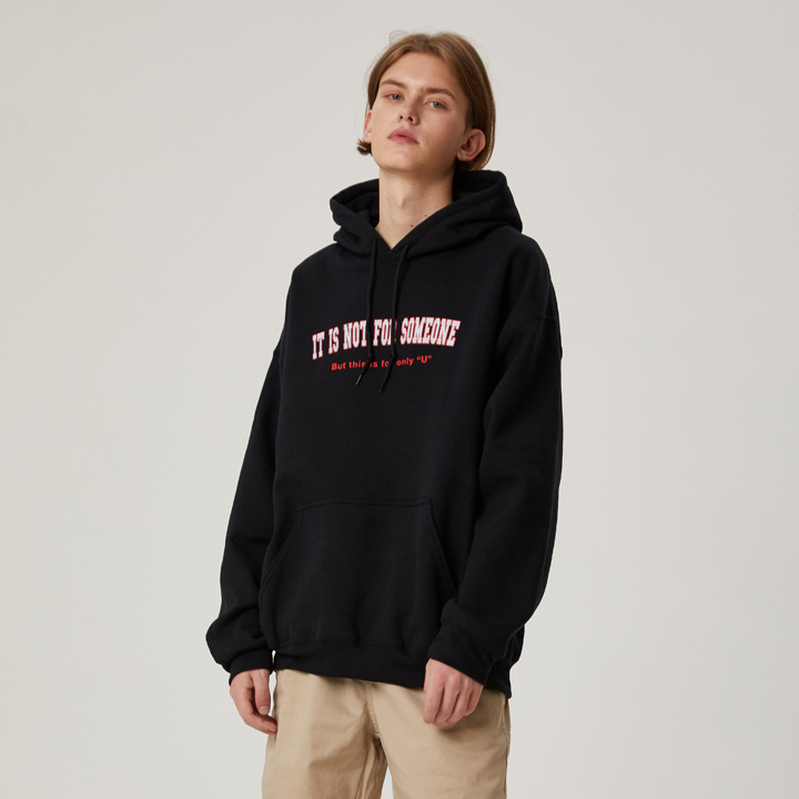 NOT FOR SOMEONE HOODIE(BLACK)