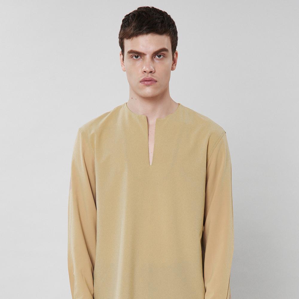 [입점특가]베이지 논카라 셔츠