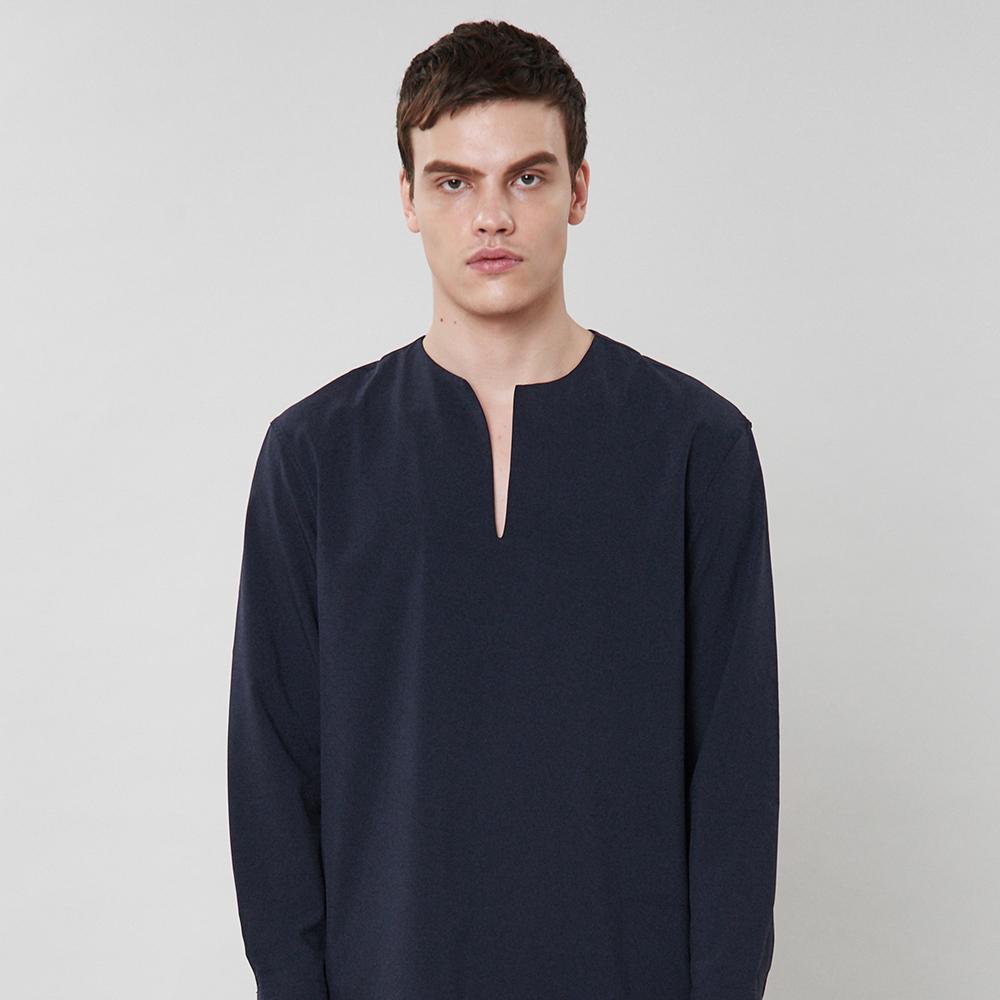 [입점특가]네이비 논카라 셔츠