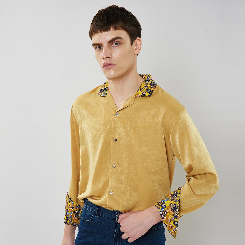 [입점특가]머스타드 페이즐리 셔츠