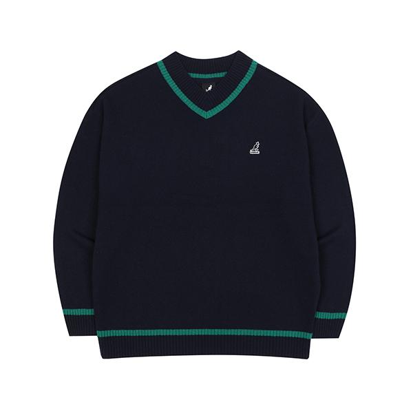 Oversized V-neck Sweater 1809 NAVY